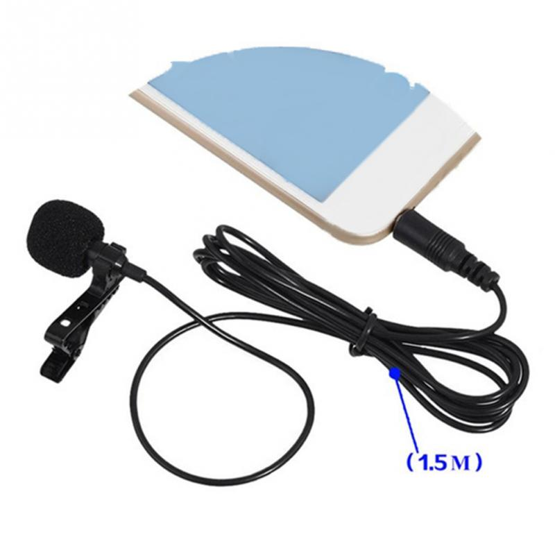 NEW 2Type choose Portable External 3.5mm Hands Free Mini Wired Collar Clip Lapel Lavalier Microphone