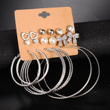 New 9 Pairs/set Trendy Earrings set