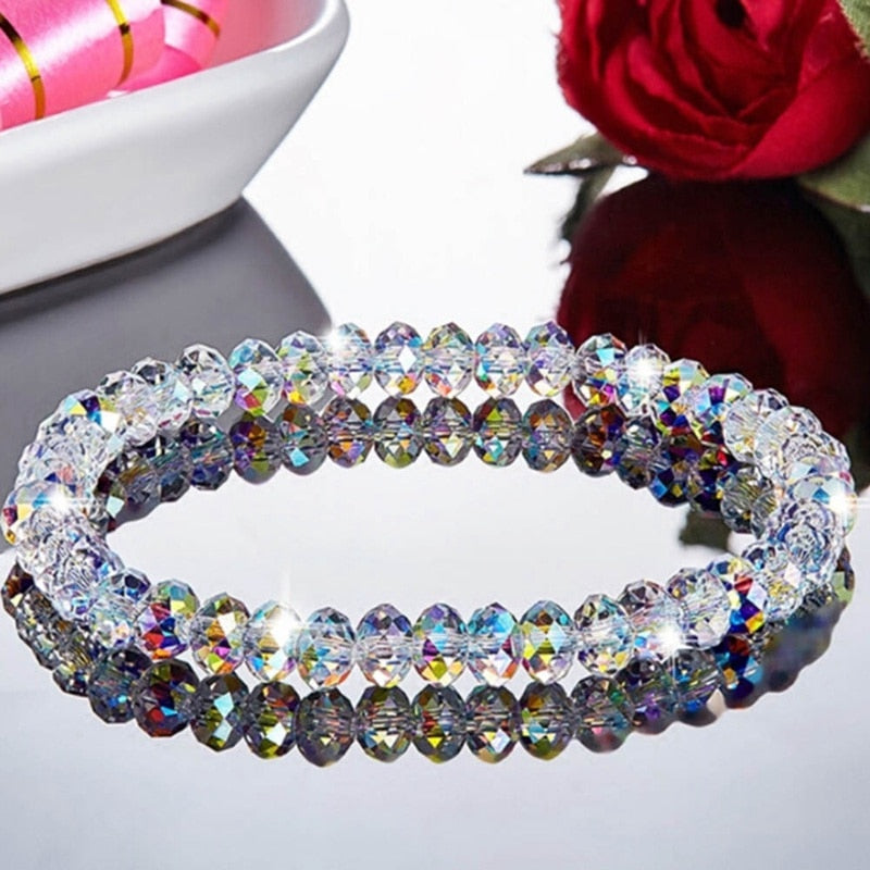 New Fashion Colorful Crystal Beaded Bracelets For Women