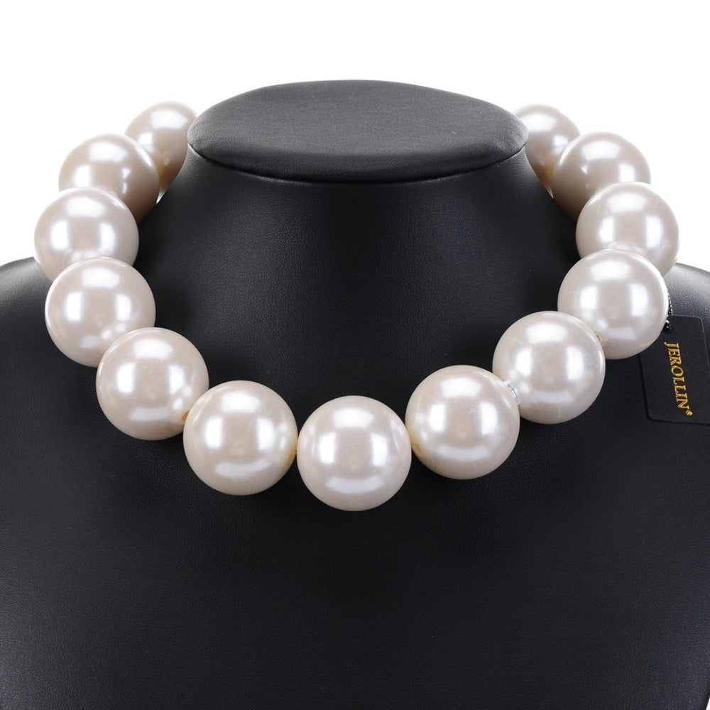New Fashion Faux Big Pearl Beaded Necklaces