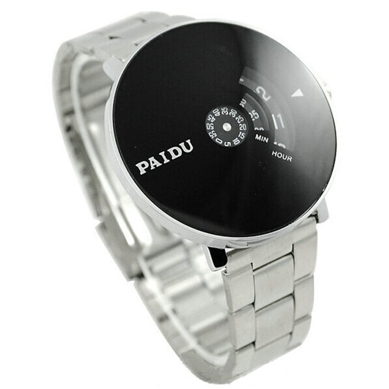 Stainless Silver Band Wrist Watch