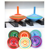 Novelty Wooden Colorful Spinning Top
