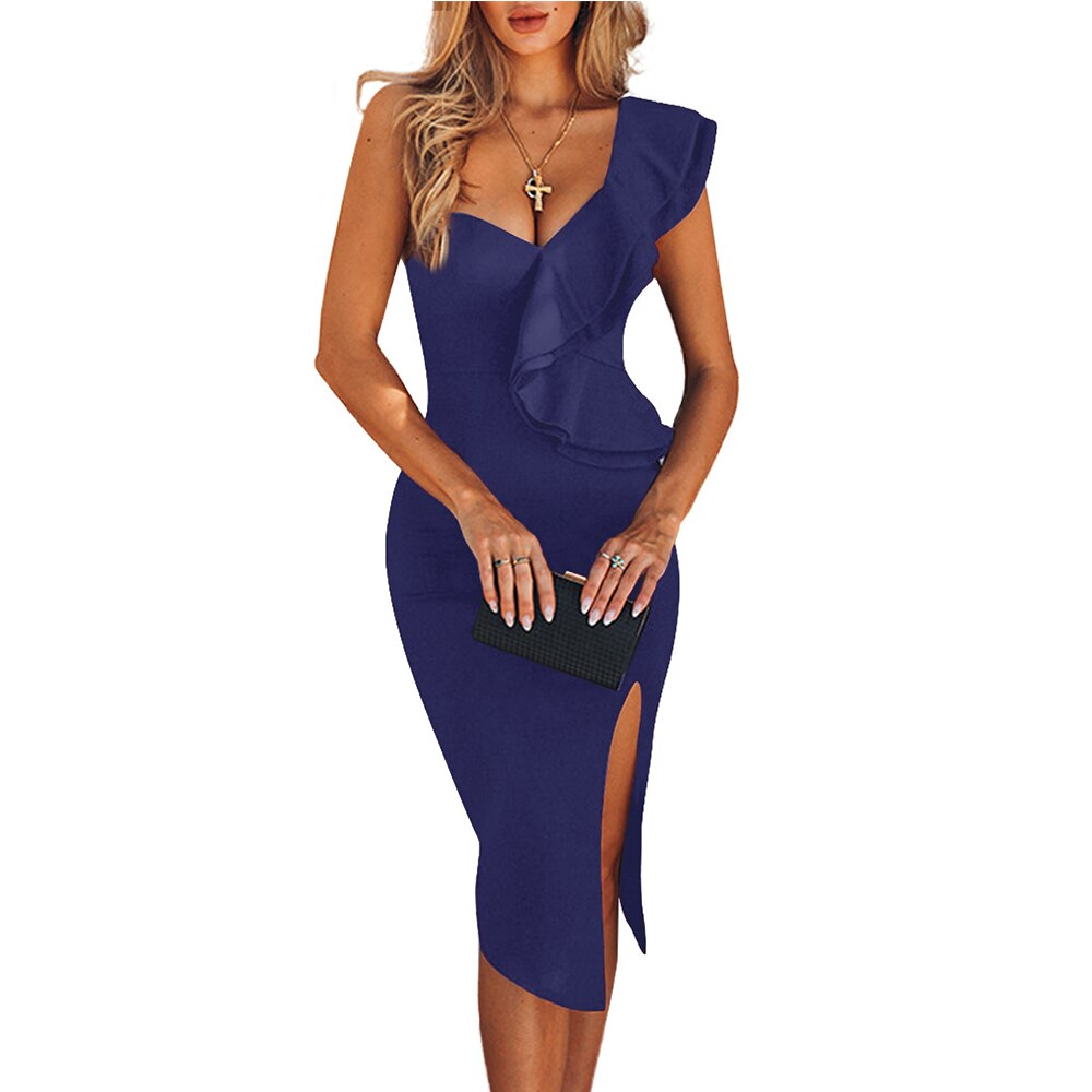 Women One Shoulder Bandage Dress