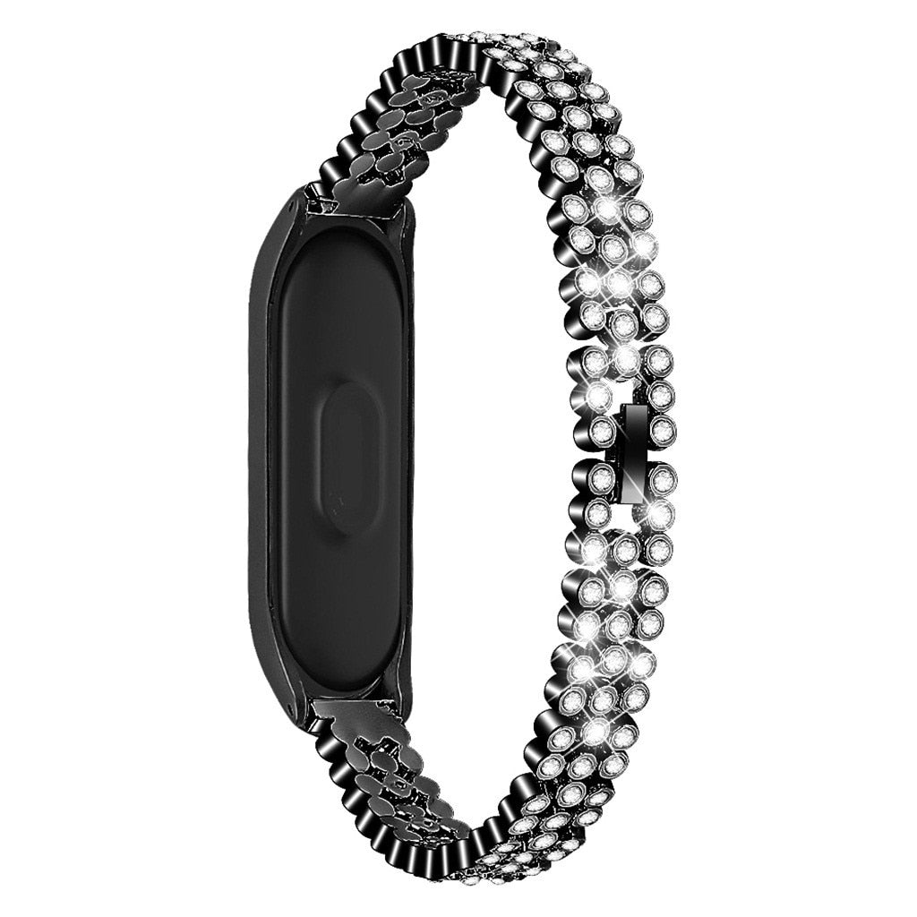 Replacement Diamonds Stainless Steel Watch Band