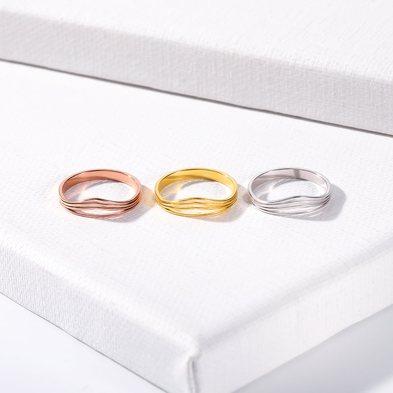 Stainless Steel Crown Shape Love Ring