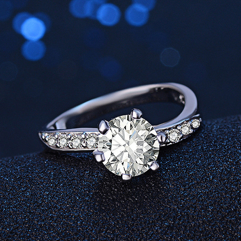 Round Zircon Exquisite Engagement & Wedding Rings for women