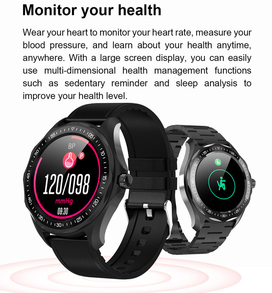 Waterproof Men's Fitness Tracker GPS Map Smartwatch