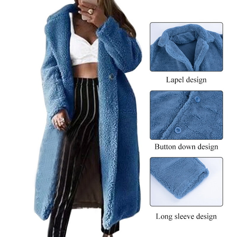 Women's Belted  Wool Long Coat