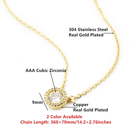 Fashion Micro Pave Cubic Zirconia Diamonds Necklaces