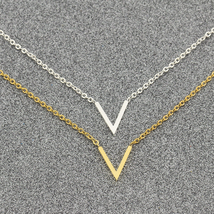 Simple V Necklaces Charm Women's Fashion Jewelry