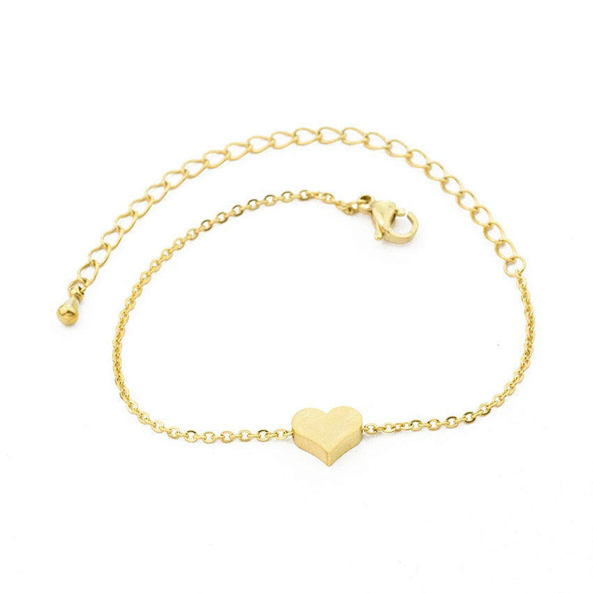 Silver Color Heart Bracelet & Bangle for Women