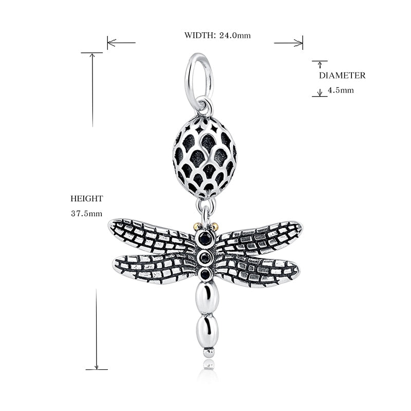 925 Sterling Silver charms Dragonfly charm Beads