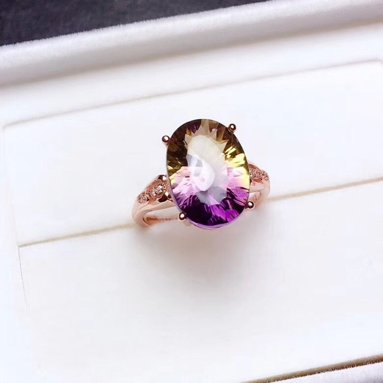 Adjustable Beautiful  Natural Oval Gemstone Ring