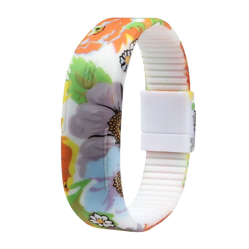 Ultra Thin Men Girl Sport Silicone Digital Watch