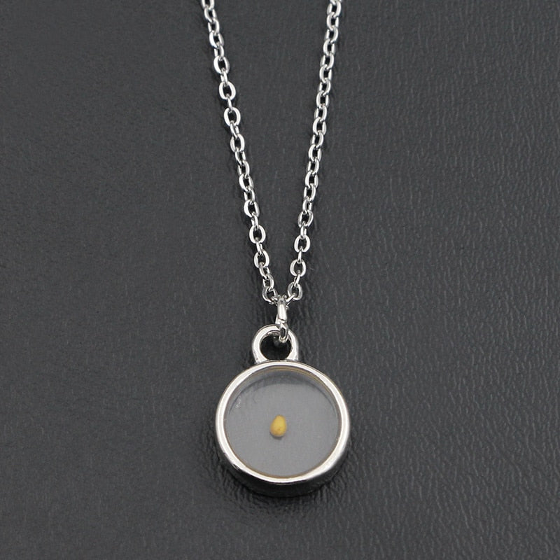 Real mustard seed necklace