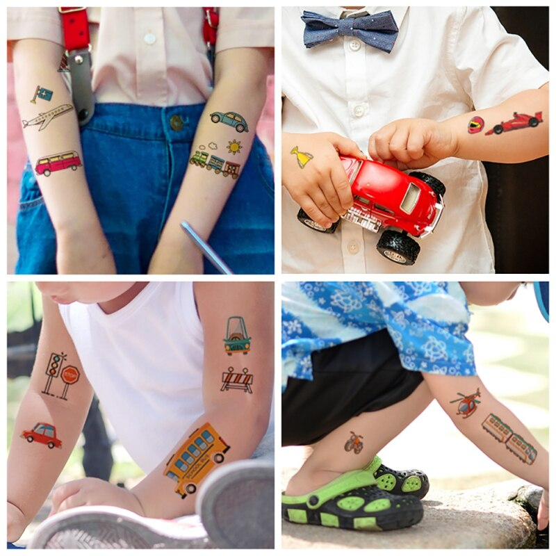 Vehicle Temporary Tattoos For Kids
