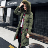 Slim Fur Hooded Women's Parkas