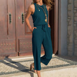 Women's Off Shoulder With Pocket Solid Color Long Rompers Jumpsuits