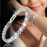 Crystal 925 Sterling Silver Bracelet For Women