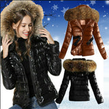 Fur Collar Hooded Jacket Women's Parkas