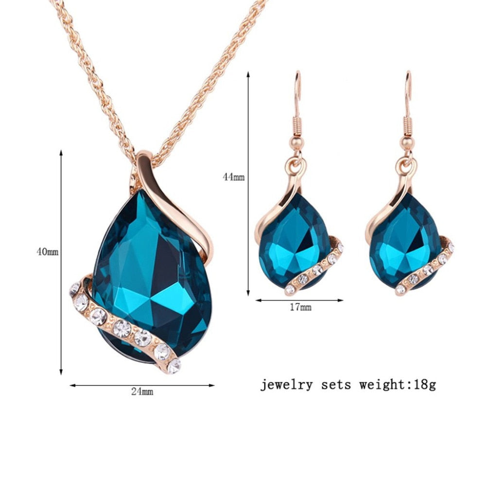 Women Elegant Banquet 3 Pieces Jewelry Set