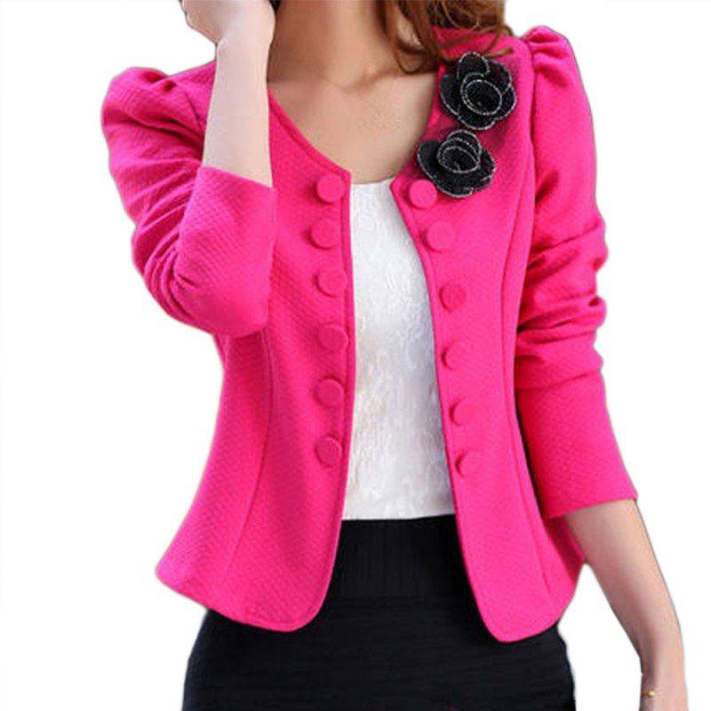 Spring Autumn  Casual Lovely Women's Blazers