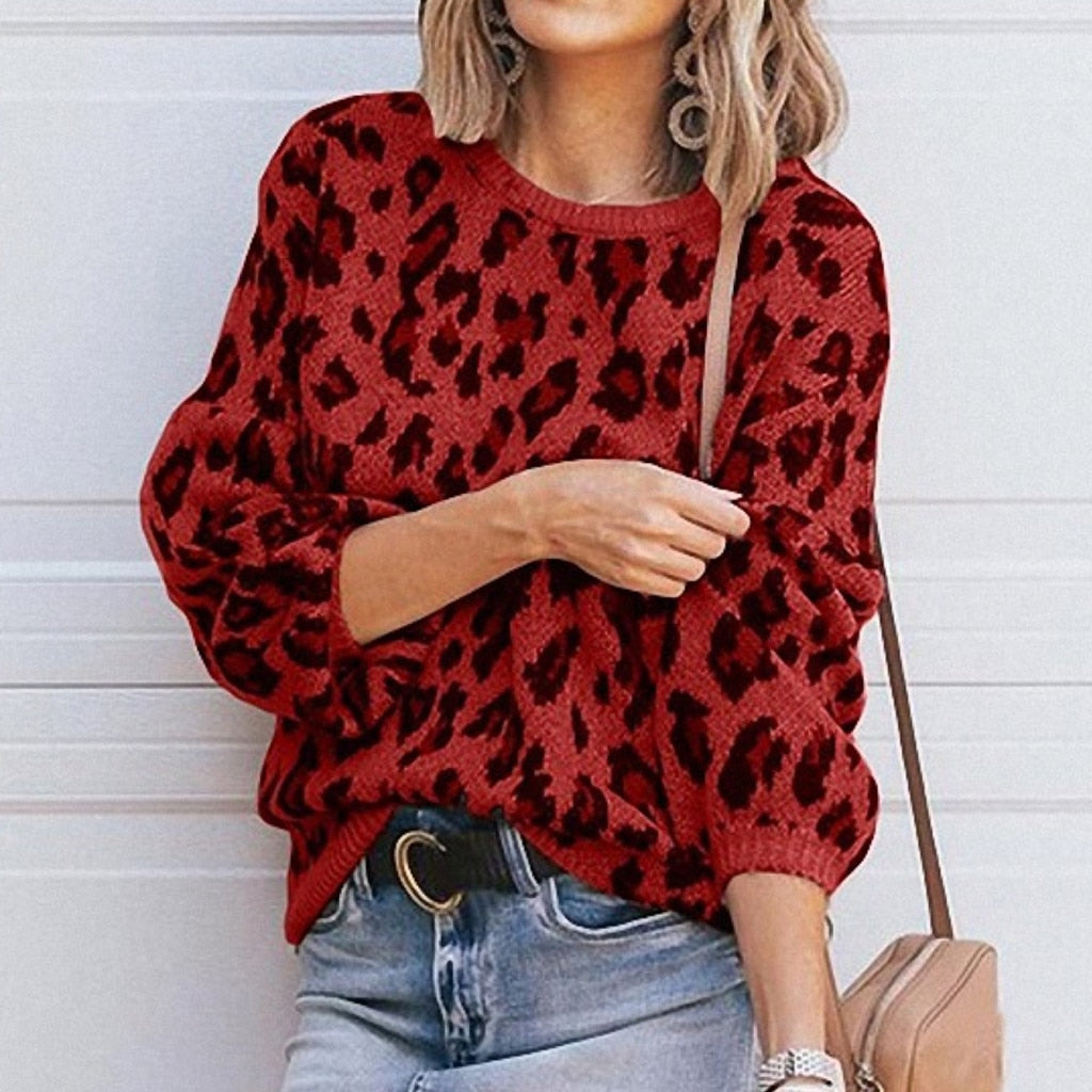 Women's Fashion Solid Casual Pullovers  Sweater