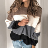 Women's  O neck Long sleeved  Knit Sweater