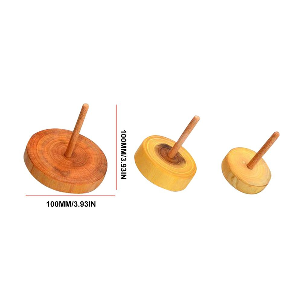 Wooden Spinning Tops Natural Classic Turned Wood Tops
