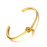 Trendy Round Circular Open Knot Cuff Bangle Bracelets For Women