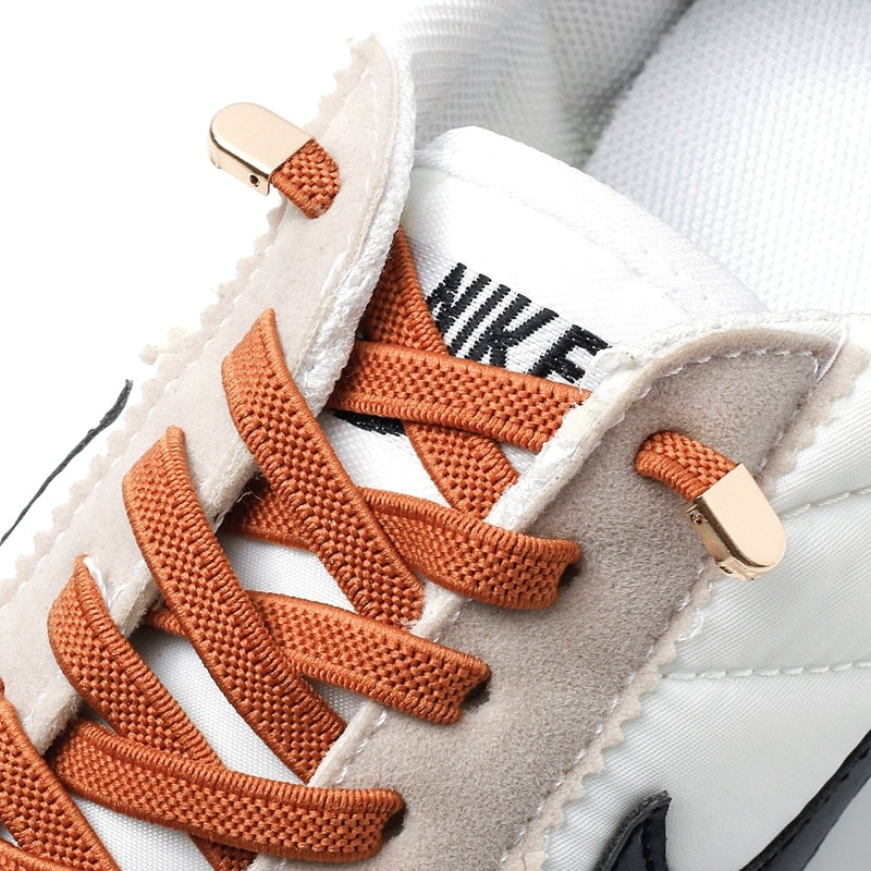 Elastic Shoelaces No Tie Shoe laces Outdoor Leisure Sneakers Quick Safety Flat Shoe lace Kids And Adult Unisex Lazy laces 1 Pair