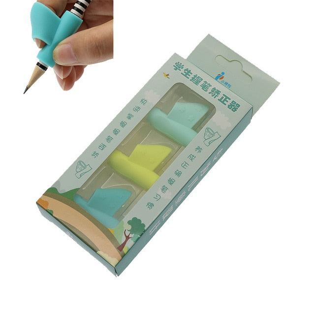 3pcs Children Students Learning Stationery Writing Tools Holding Pen Writing Correction Attitude School Office Supplies