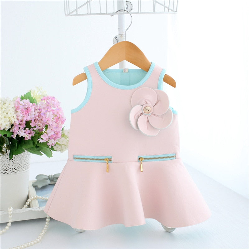 Wholesale 5pcs/lot Baby Girls Infant Christmas Dress&Clothes Autumn Appliques Flower Kids Party Birthday Dress Christening 0-2T
