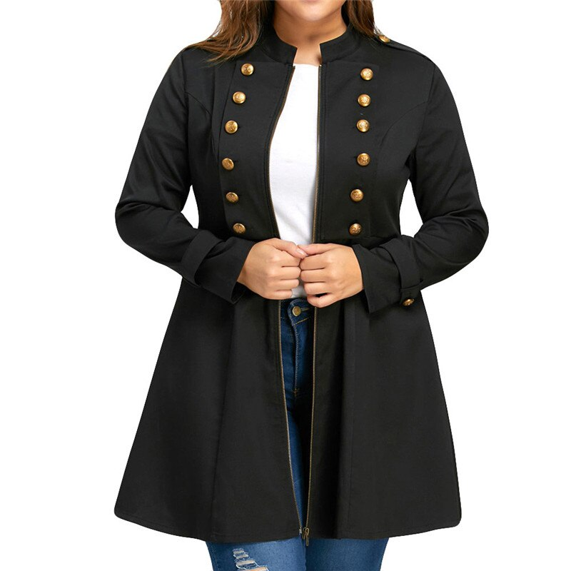 Double Breasted Flare Windbreaker Women's Trench Coats
