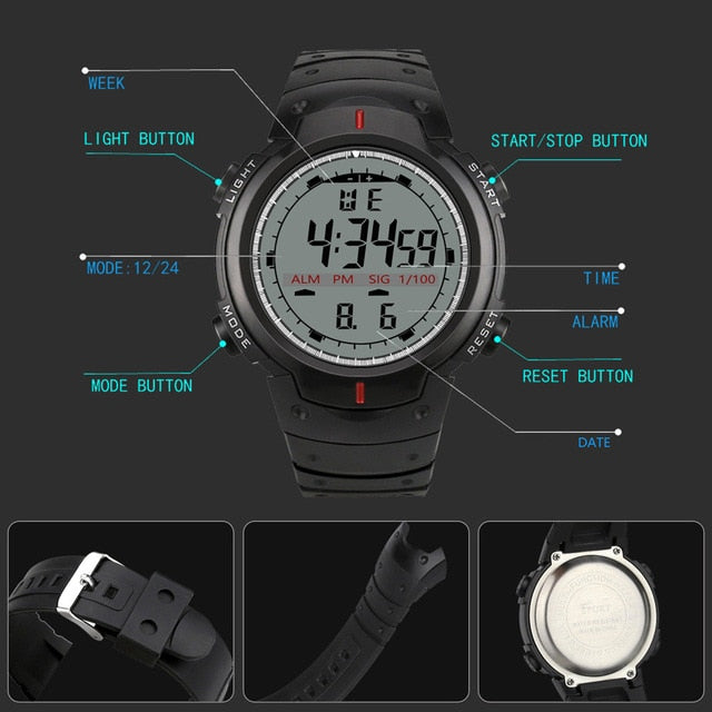 Fashion Waterproof Men's Watch LED Digital Stopwatch