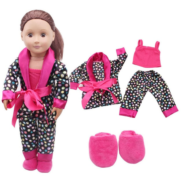 5pcs Clothes Shoes for 18inch American Dolls