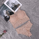 Women Transparent Lace Bra and Panty Set