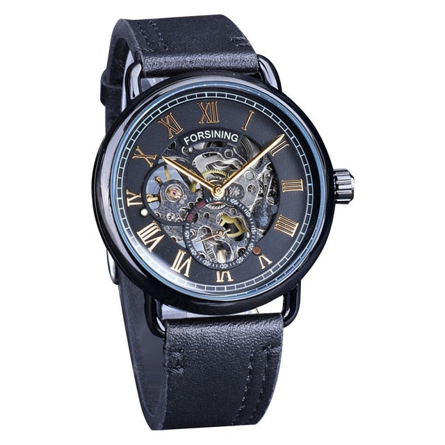 Big Dial Leather Waterproof Sport Chronograph Watch