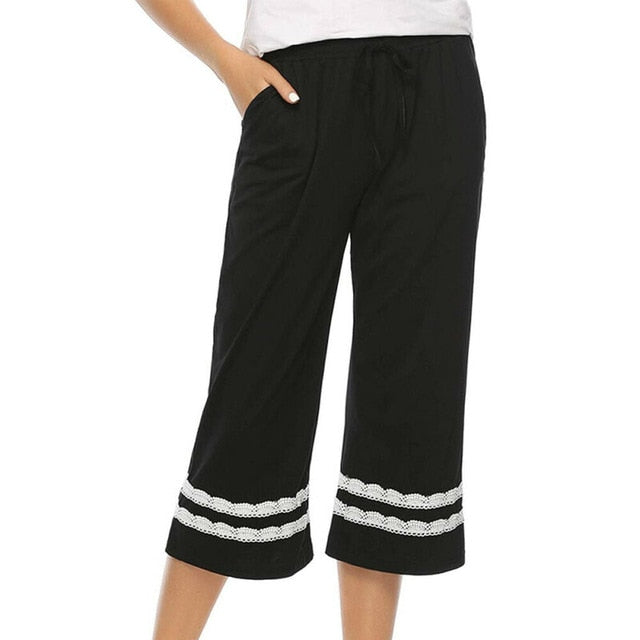 Women's Sleepwear Pajama Cotton Pants Sleep Cropped Lounge