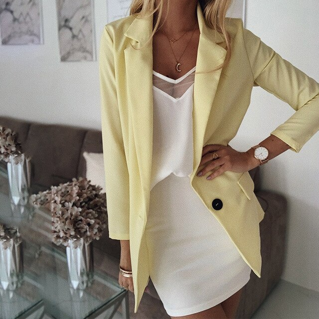 Solid Color Treasure Thin Section Women's Blazers