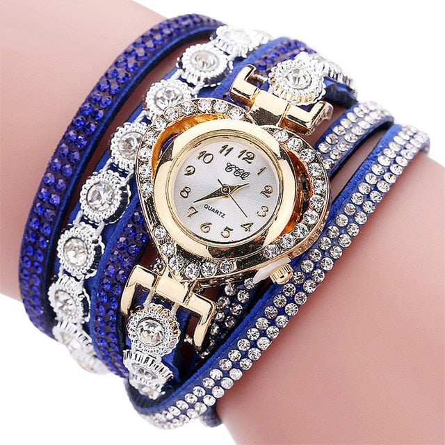 Women's love diamond circle women's bracelet watch