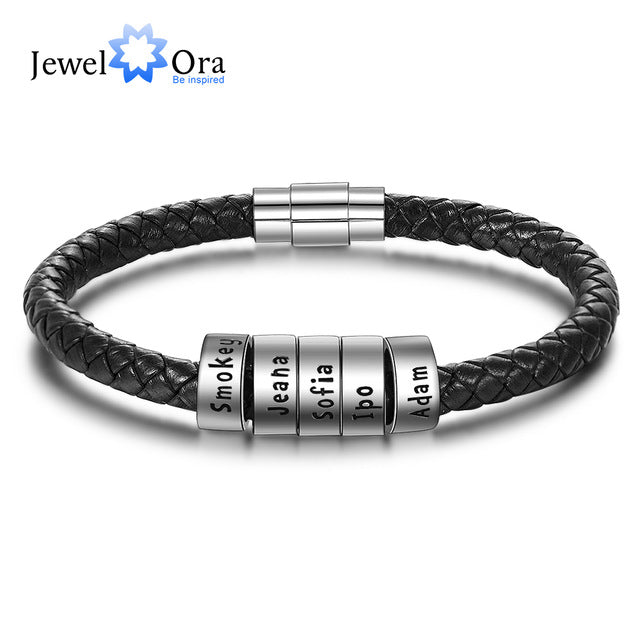 925 Sterling Silver Personalized Custom Name Beads Bracelets