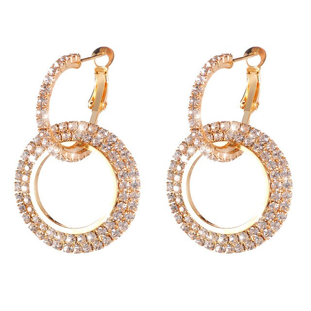 Fashion Luxury Round Diamonds Earring for Women
