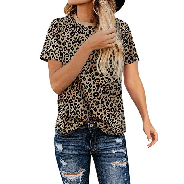 Leopard Print Tops for women