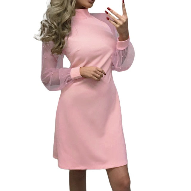 Women's Mesh Sleeve Dress