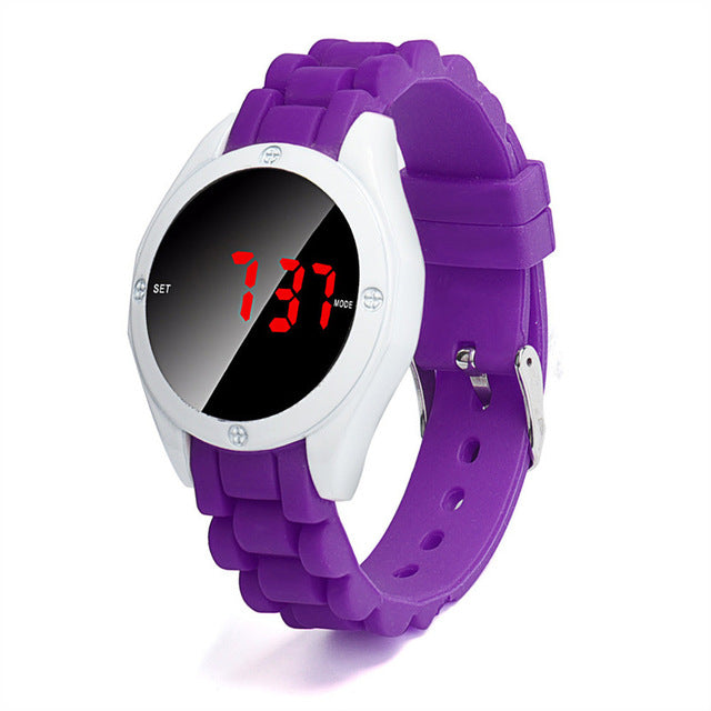 Fashion Casual Waterproof Round LED Digital Watch