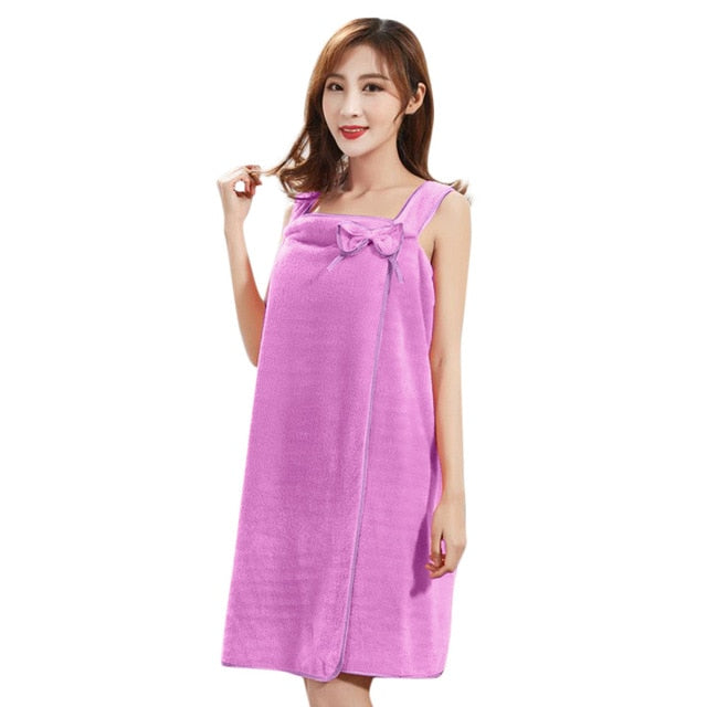 Women Fast Drying Magic Skirt bathrobe sleepwear