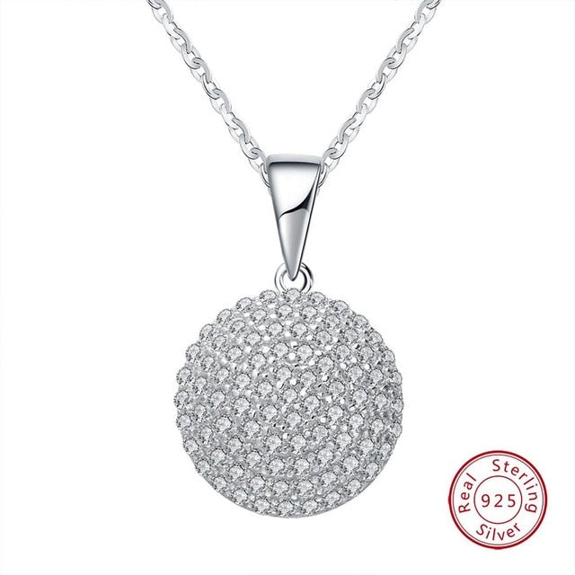 Trendy Round 925 Sterling Silver Jewelry Pendant