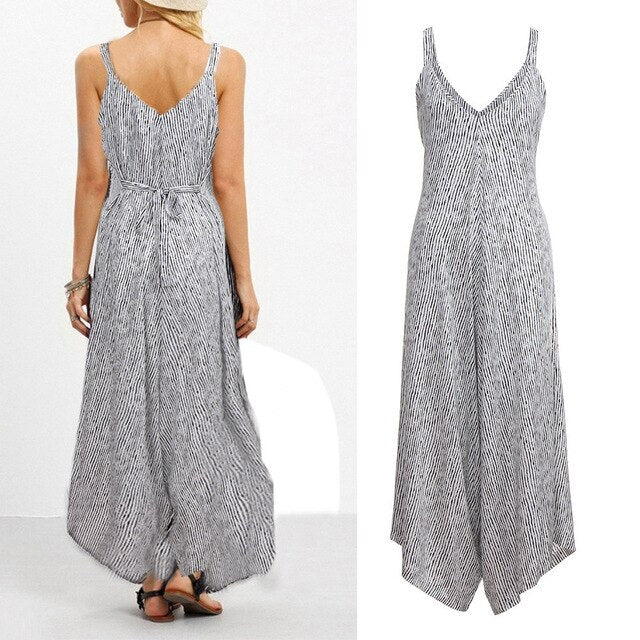 Summer New Women Casual Loose Jumpsuit