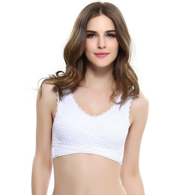 Women Underwear Lingerie Buckle Wireless Push up Sports Bra